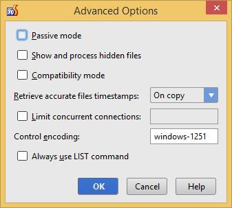 """PhpStorm: окно """"Расширенные опции"""""""