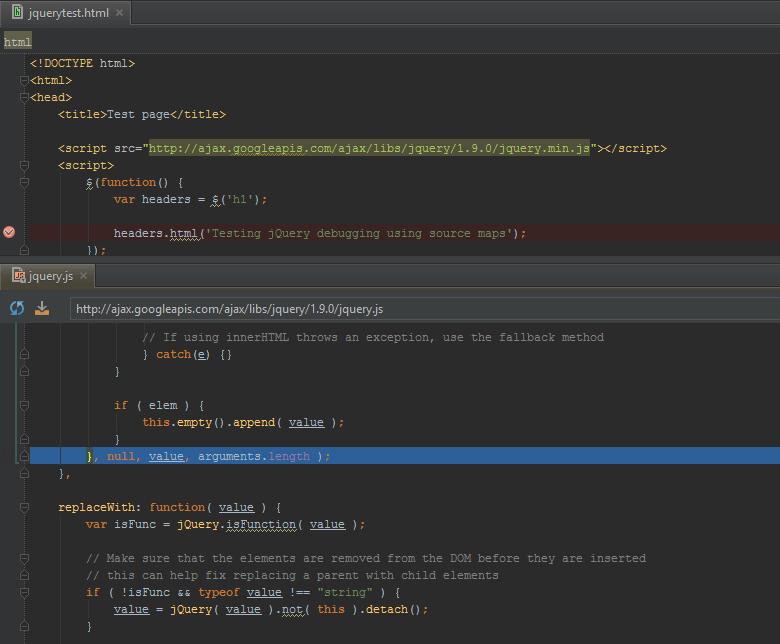 PhpStorm: использование карты кода jQuery