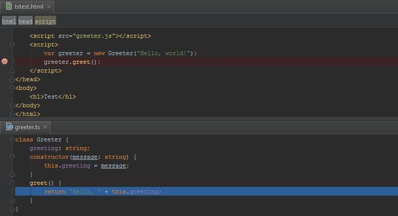PhpStorm: использование карты кода TypeScript