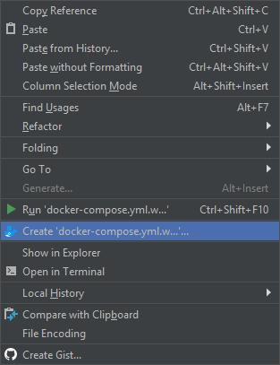 "PhpStorm: пункт ""Create 'docker-compose.yml...'"" из контекстного меню"
